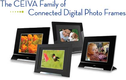 the ceiva family of connected digital photo frames